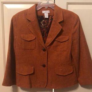 Orange tweed blazer
